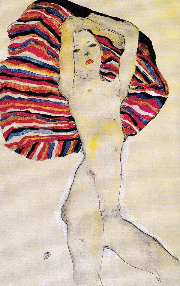 "adreciclarte: "" by Egon Schiele, 1911 """