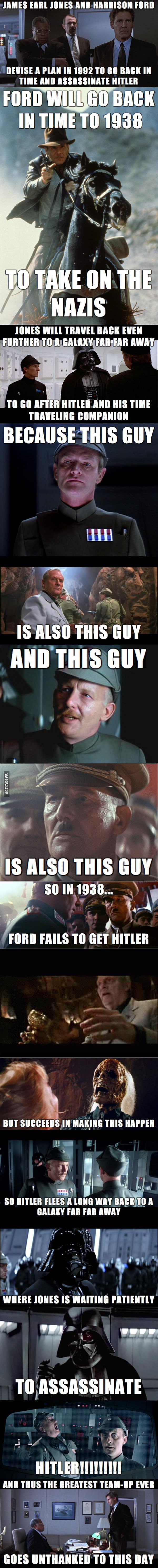 Unknown, successful plot to assassinate Hitler! This is amazing and hilarious! And everyone thought Vader was bad.