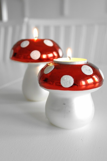 mushroom candles
