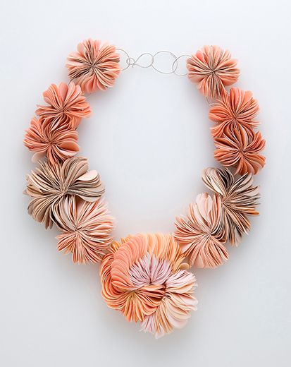 Heeang Kim (MA), Proliferation XI, 2014, necklace; polymer clay, silver, L 555 mm, Kookmin University (Korea)  - Marzee Graduate Show