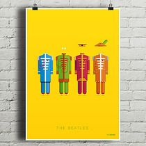 The Beatles - Sgt. Pepper's... - plakat  A4, minimalmill