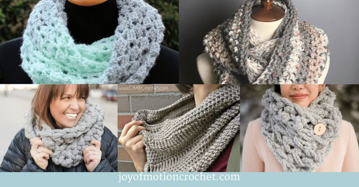 9 Fun Crochet Cowls and Scarfs for Fall – Crochet Roundup
