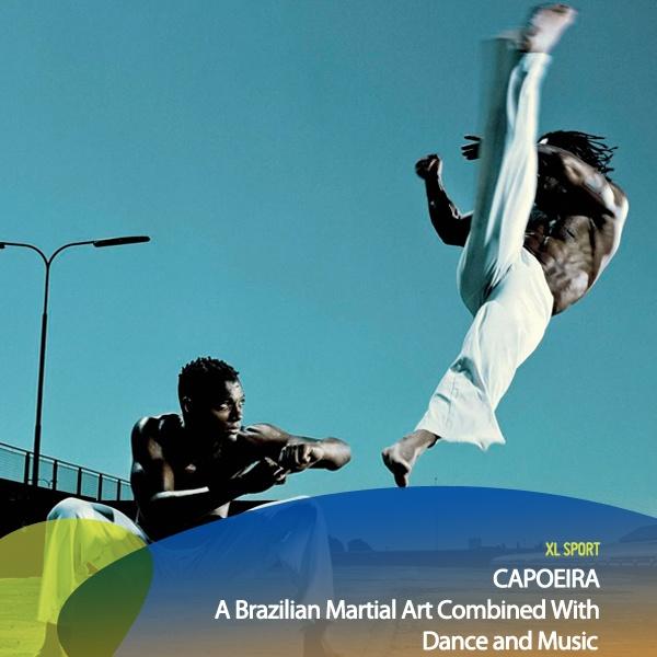 Olah Raga yang seru dan menarik untuk kita pelajari Capoeira nih guys! Capoeira adalah seni bela diri asal Brazil yang menggabungkan musik dan tarian sehingga mereka tidak terlihat seperti sedang bertarung. Capoeira mengutamakan kekuatan tendangan dan gerakan komplek untuk mengecoh lawan. Siapa disini yang sudah atau pernah belajar Capoeira?    *as posted on XL Rame