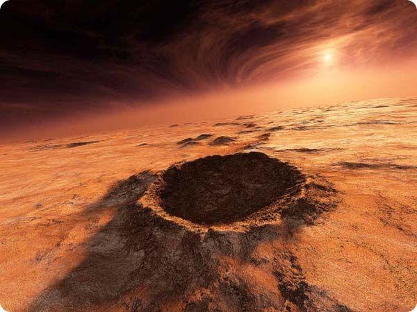 NASA captured some spectacular images of sunrise on #Mars. - Sonnenaufgang über Olympus Mons, der größten Erhebung in unserem Sonnensystem.