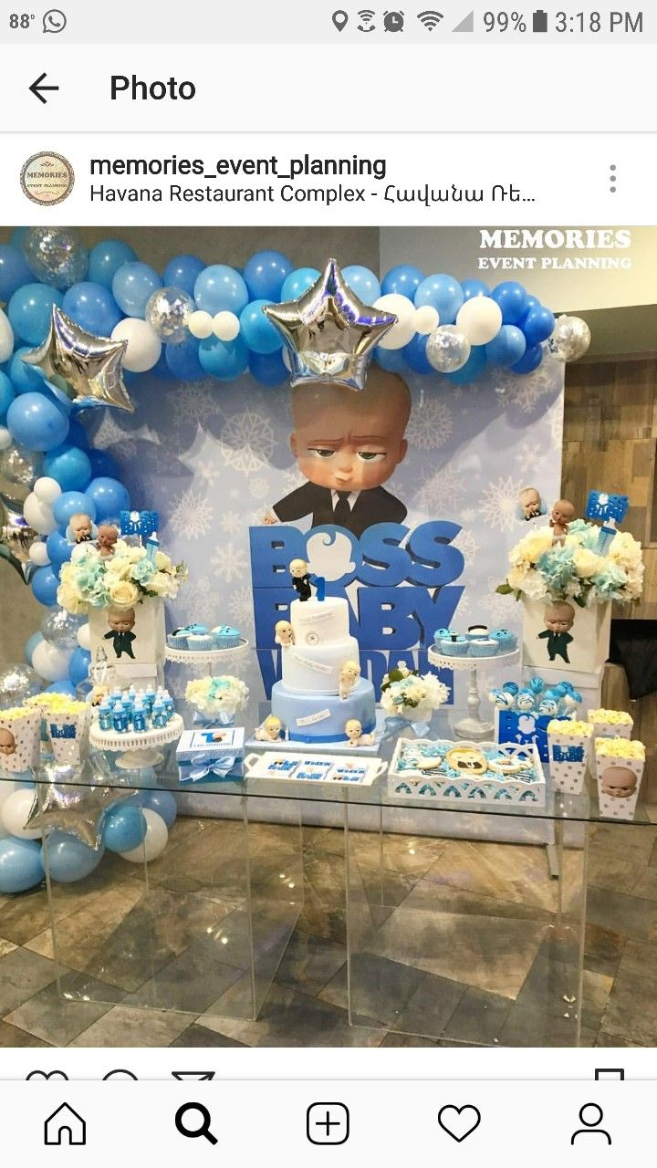 Pin By Allison Hall On Boss Baby Baby Boy 1st Birthday Party
