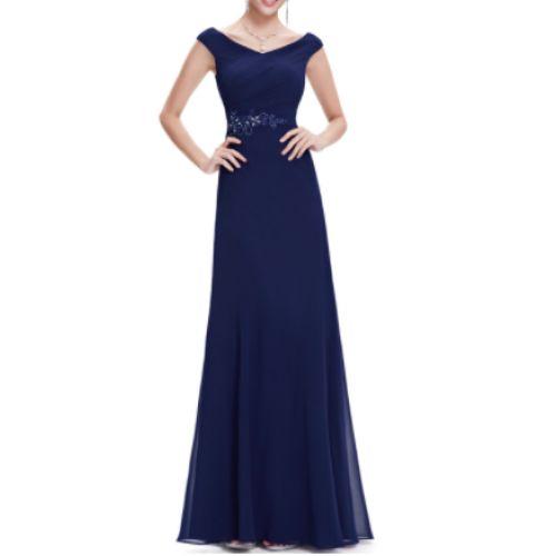 Vestido Fiesta Largo Azul Marino | Suen-Vestidos de fiesta