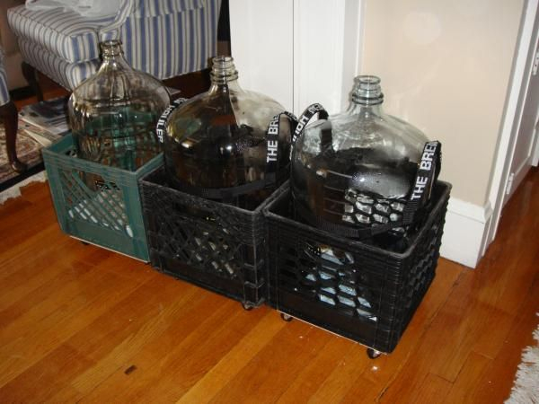 Carboy Crates with castors - Home Brew Forums