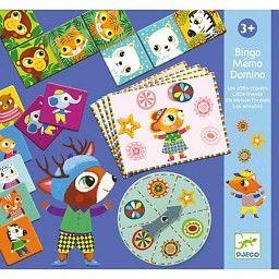 Djeco Bingo Mémo Domino de/by Djeco, Les P'tits Copains/Little Friends