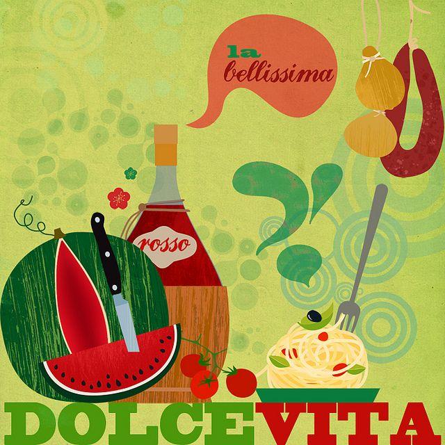 my italian food illustration