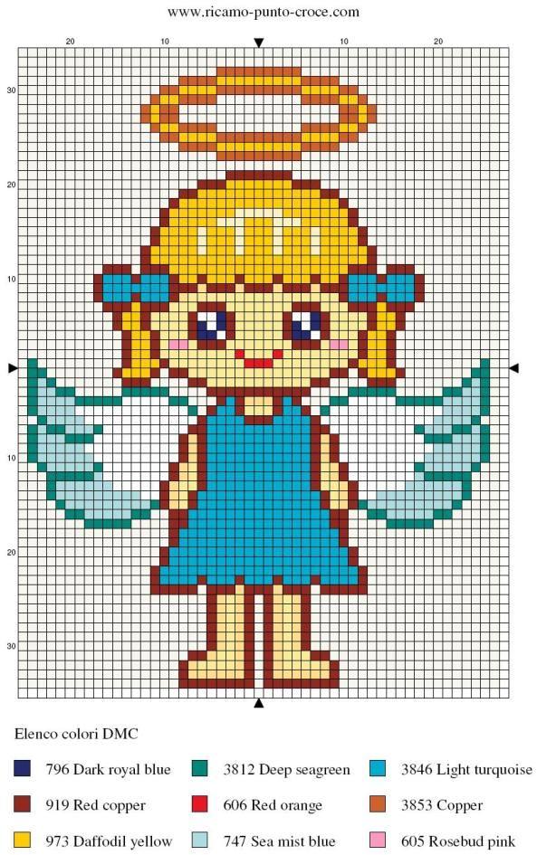 Angel perler bead pattern