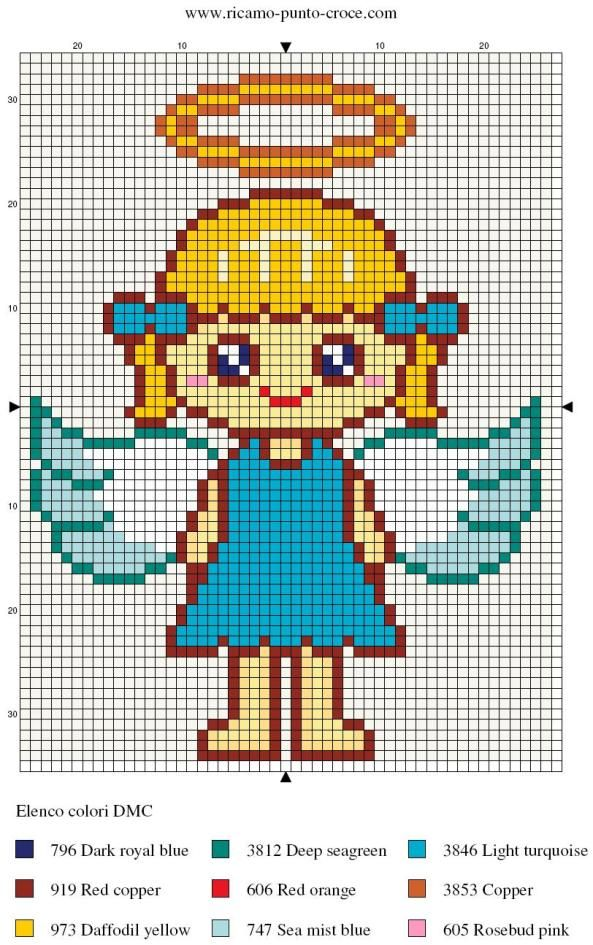 Angel perler bead pattern