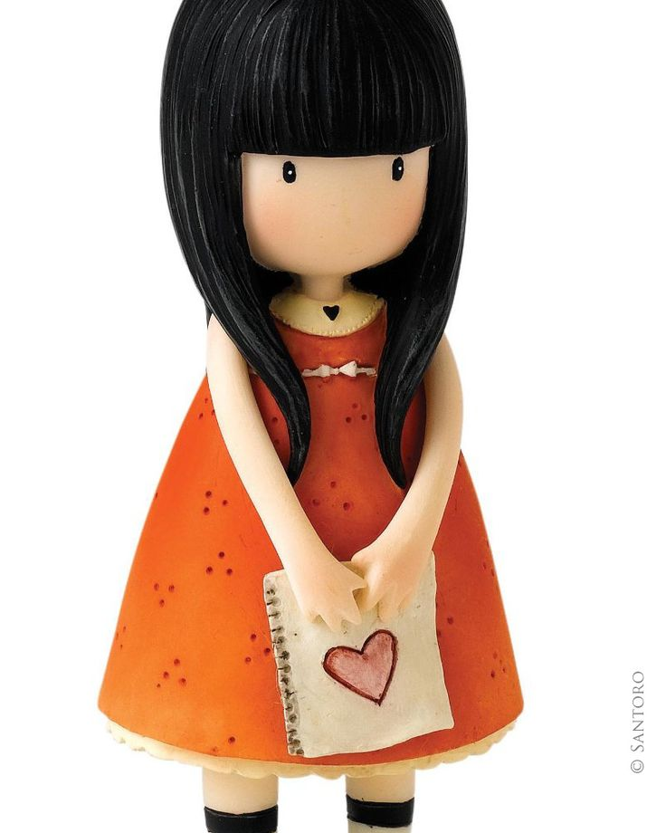 "Gorjuss 4"" Figurine - I Gave You My Heart from Santoro"