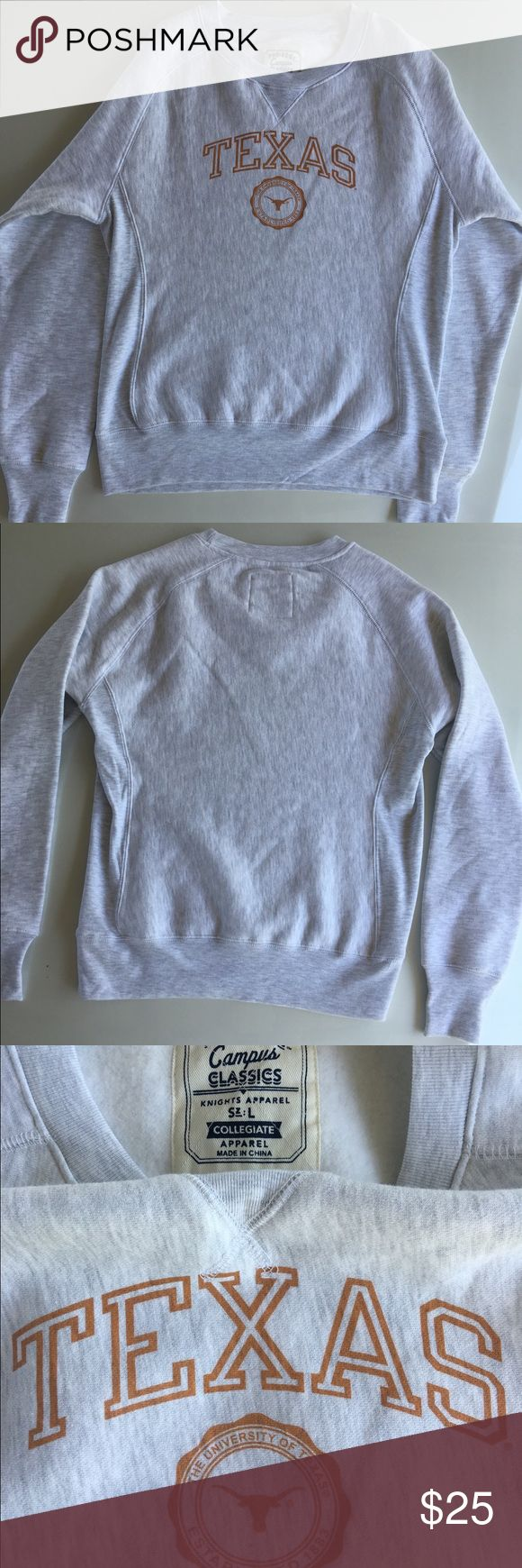 UT Austin Sweatshirt The University of Texas at Austin. NWOT light gray sweatshirt. Love this but never got a chance to wear since I have so many other UT apparel. 82% Cotton/18% Polyester. 🚫No Trades Tops Sweatshirts & Hoodies