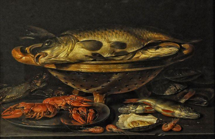 Clara Peeters (1584-1657) —  Still Life with Fish,  1615 : The Royal Museum of Fine Arts,  Antwerp. Belgium (1280×831)