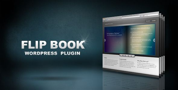 Flip Book WordPress Plugin . Flip Book WordPress Plugin is based on XML Flip Book / AS3 one of the three top selling items of all times on ActiveDen . It has been built from scratch. Almost everything you see on the page is easily customizable through the WordPress administration panel – easy installation, no coding skills