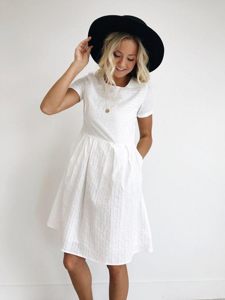 Sammi Dress in White || ROOLEE