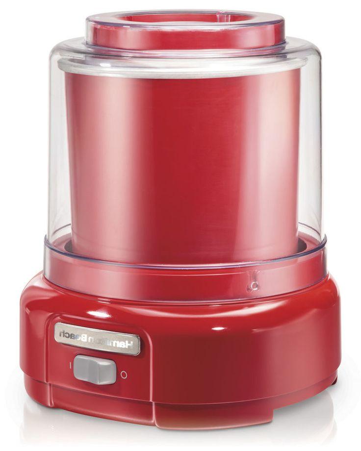 Hamilton Beach Ice Cream Maker Electric 1.5 Quart| Model 68881 Red Homemade #HamiltonBeach