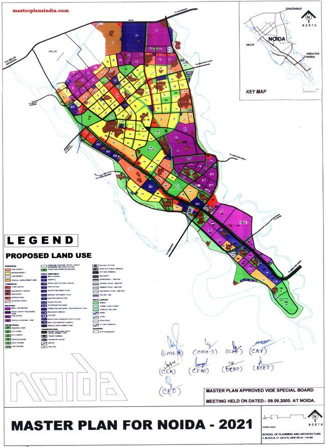 Noida Master Plan 2021 Map