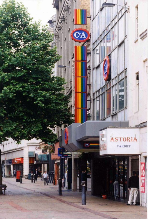 The C&A store on Queen Street, Cardiff, in 1995