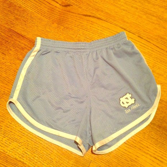 UNC Tar Heels athletic shorts EUC size M Athletic shorts in Tar Heel blue straight from the UNC bookstore! Logo is fading a little but the shorts are in great shape otherwise. Run small. Though it's marked M I'd say it's a size 2/4. Shorts