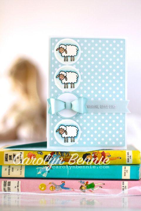 Barnyard Babies Stampin' Up! Baby Card - carolynbennie.com Carolyn Bennie - Independent Stampin' Up! Demonstrator in Australia