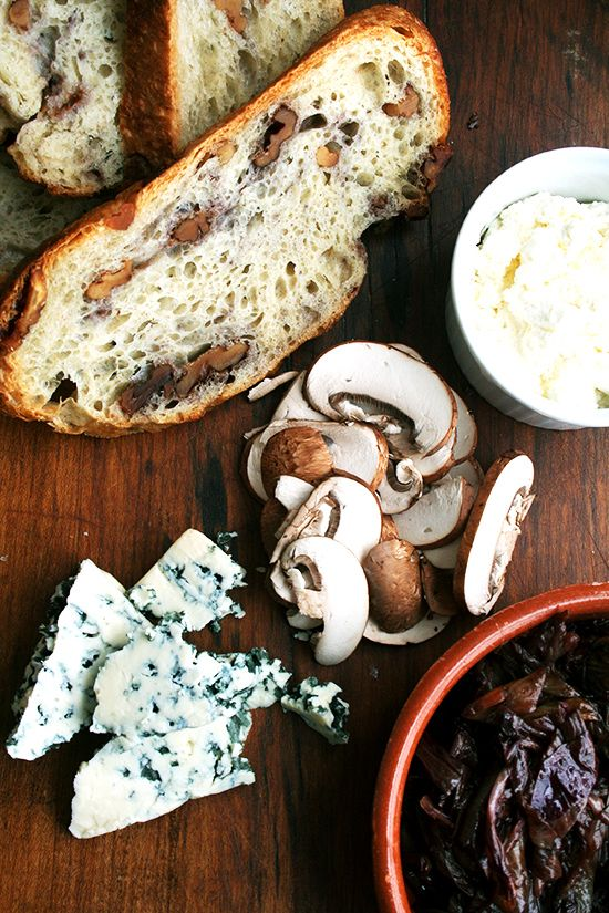Tartine Ingredients; par alexandracooks | bread and cheese | Pinterest