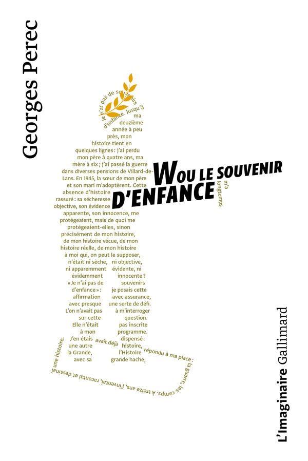W Ou Le Souvenir D Enfance Souvenirs D Enfance Georges Perec Telechargement