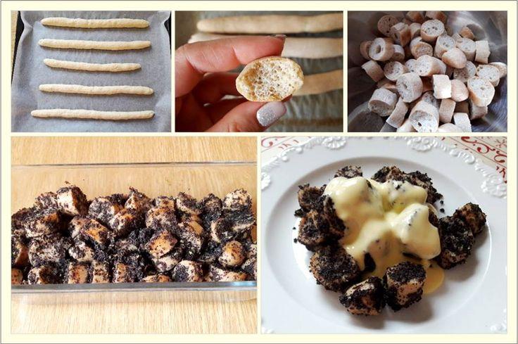 Mákos guba, vanília pudinggal