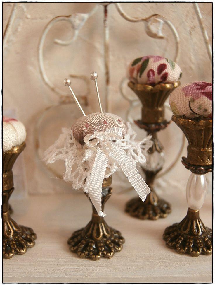victorian pin cushion miniature dollhouse