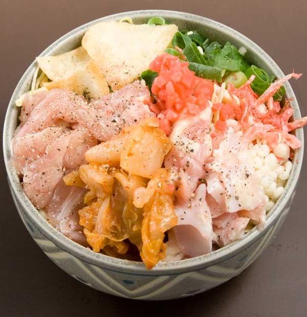 もんじゃ焼き「ピリ辛鶏もんじゃ」白菜キムチがうまい!かつお節・青のり付【楽天市場】
