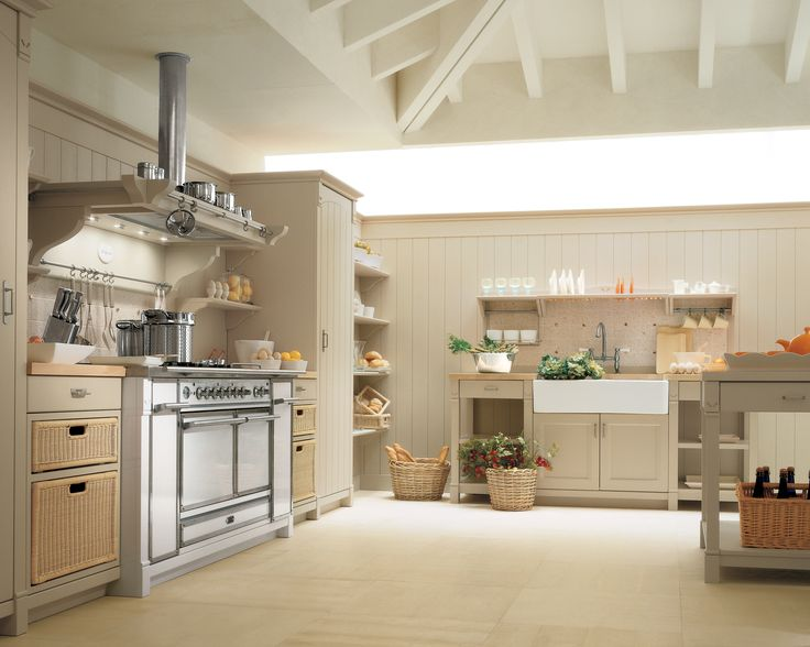 The country kitchen design with a touch of italian style designed by minacciolo the country kitchen with retro gas stove design