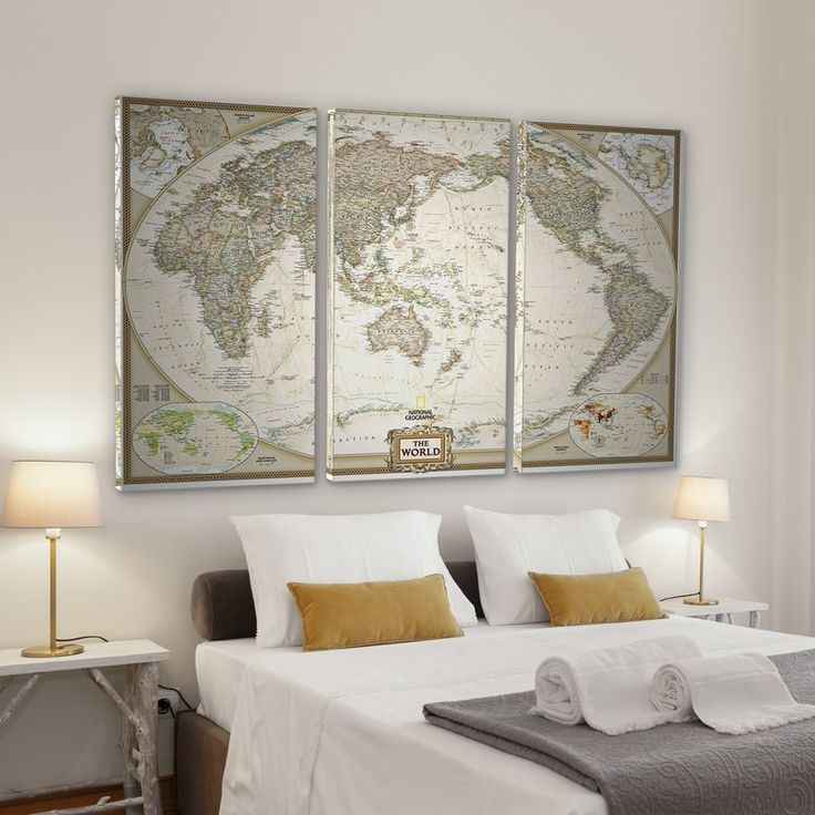 Middle East Map National Geographic%0A  u    National Geographic World Map u     Graphic Art Print MultiPiece Image on  Wrapped Canvas