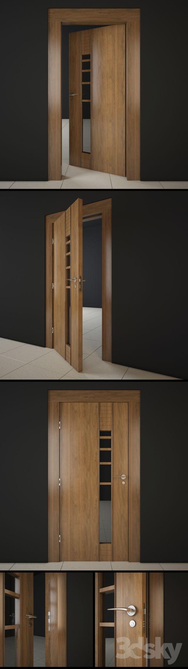 3d models: Doors - Modern Wooden Door