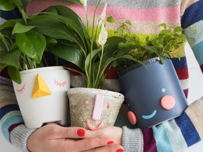 Transform your planters into smiling friends with this super-simple DIY.