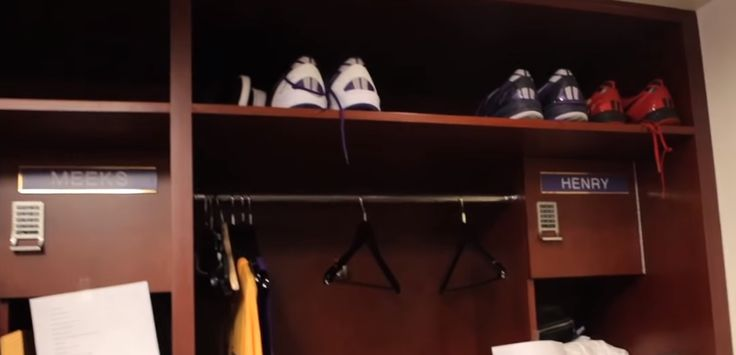 What's inside the Los Angeles Lakers' Locker Room? Watch this video! #LALakers #prosports #lockerroom
