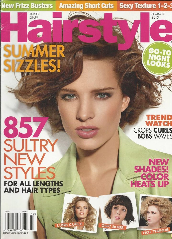 Hairstyle magazine Sultry styles Crops Curls Bobs Waves Short cuts Sexy texture