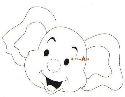 Fantoche elefante - tromba de meia