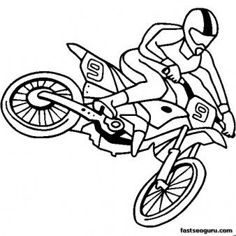 print out moto cross coloring page for kids