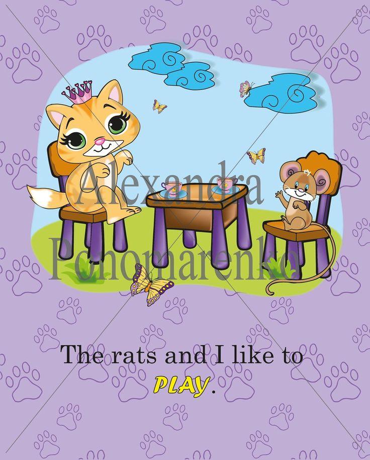 #princess_kitty #book_illustration #kitten #mouse #friends #play #drawing #illustration #cartoon_illustration #drawing #digital_art #sketch_book #рисунок_на_заказ #lovewhatido #inspiration