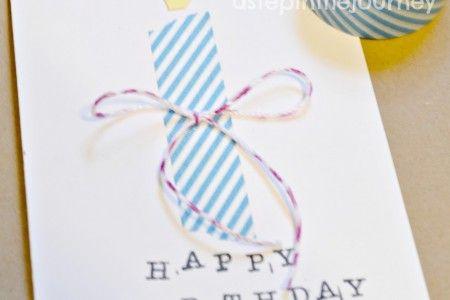 washi diy pyssel grattis kort papperspyssel