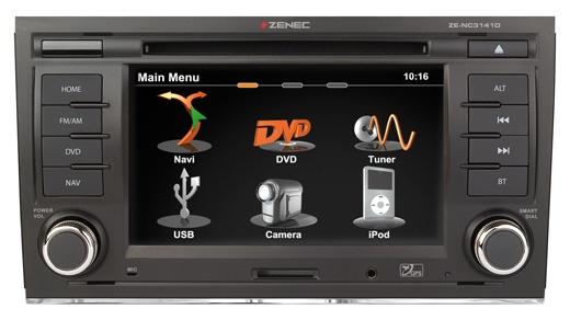 #Zenec ZE-NC3141D - Pasvorm pasklare navigatie voor #Audi A4 en #Seat Exeo. Perfecte vervanger voor een Audi #RNS-E navigatie. Geweldige pasklare OEM navigatie met uiterst fijne bediening via touchscreen. Bluetooth carkit functie en film kijken via DVD of iPhone. Uw muziekbestanden afspelen via uw USB stick, alles is mogelijk.