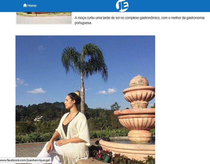 Vila Don Patto | Jornal da Economia On Line | 'A equipe do Vila Don Patto Restaurante recebeu a modelo e atriz Aline Mineiro' | Julho de 2016.