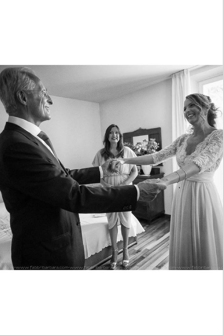 La sposa Alessandra ed il papà [Dove Vuoi Catering - Villa Rota]