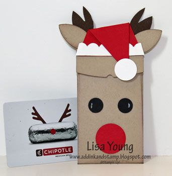 Add Ink and Stamp: Reindeer Gift Card Holder