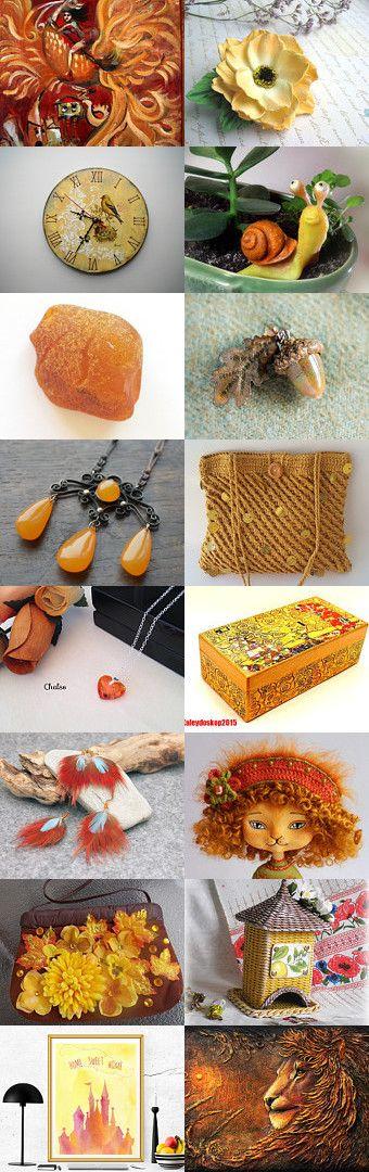 Orange Yellow February by Jelena on Etsy--Pinned+with+TreasuryPin.com