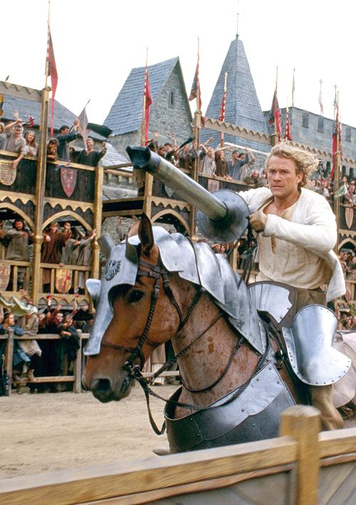 A Knight's Tale (2001). Sir Ulrich from Liechtenstein ready to charge. His mount is a bay Roan ;-)