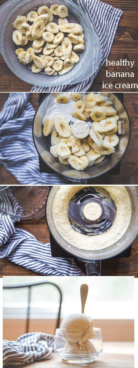 Gesunde Bananen Eiskrem
