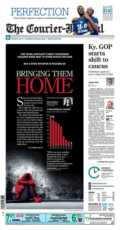 Powerful design from the Courier-Journal. What do you like best about this page?