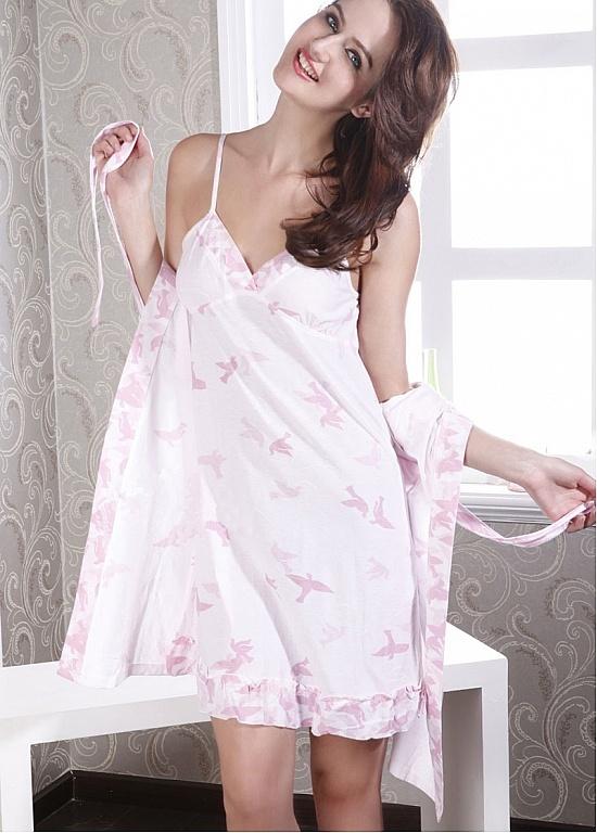 Ensemble pyjama et ensemble de robe 2-pièces rose impression florale   http://fr.edressbridal.com/lingerie-sexy/robes-femmes-ensemble-de-pyjama-charmantes-17056.html
