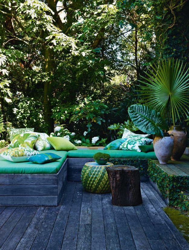 Les plus belles terrasses de Pinterest - Dominante vert